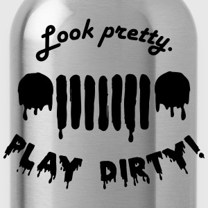 Jeep Ladies - Look pretty - play dirty - black - Trinkflasche