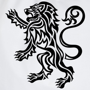 Tribal Tattoo Style Lion Rampant - Drawstring Bag