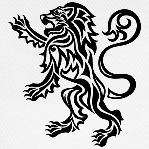 Tribal Tattoo Style Lion Rampant - Baseball Cap