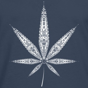 Cannabis Leaf - white Shirts - Men's Premium Longsleeve Shirt