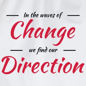 In the waves of change we find our direction Shirts met lange mouwen - Gymtas