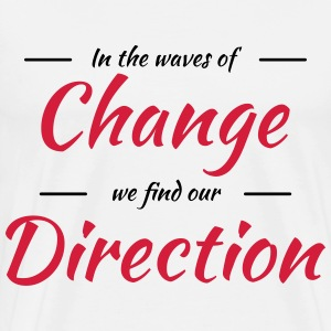 In the waves of change we find our direction Skjorter med lange armer - Premium T-skjorte for menn