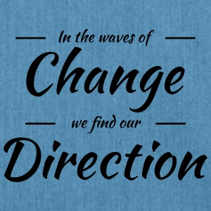 In the waves of change we find our direction Sportkleding - Schoudertas van gerecycled materiaal