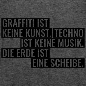 Graffiti Techno Erde Spruch Statement Musik T-Shirts - Frauen Tank Top von Bella