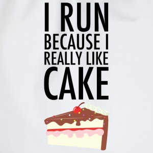 I Run Because I Really Like Cake T-Shirts - Drawstring Bag