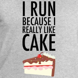 I Run Because I Really Like Cake T-Shirts - Men's Sweatshirt by Stanley & Stella
