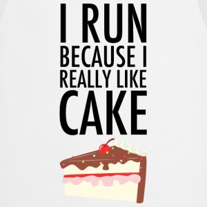 I Run Because I Really Like Cake T-Shirts - Cooking Apron