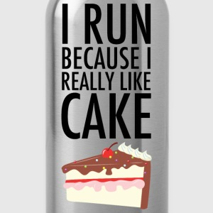 I Run Because I Really Like Cake T-Shirts - Water Bottle