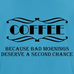 Coffee because bad mornings... Sportkläder - Andningsaktiv T-shirt herr