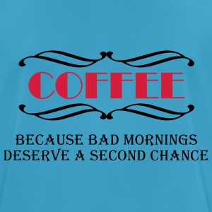 Coffee because bad mornings... Sportsbeklædning - Herre T-shirt svedtransporterende