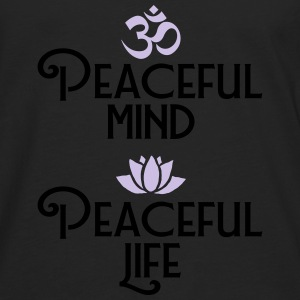 Peaceful Mind - Peaceful Life T-Shirts - Männer Premium Langarmshirt