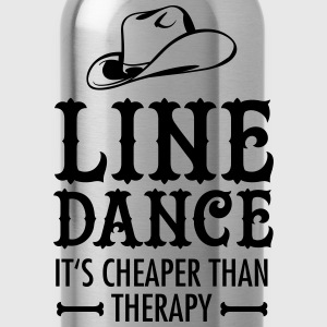 Line Dance - It's Cheaper Than Therapy T-Shirts - Trinkflasche
