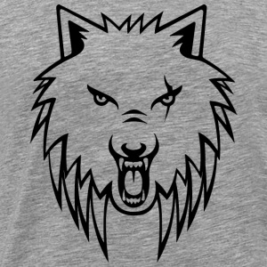 Apollo Wolf Transparent Sports wear - Men's Premium T-Shirt