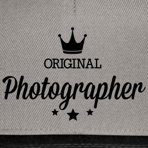 Original three star deluxe photographer T-Shirts - Snapback Cap
