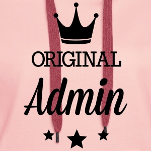 Original three star deluxe Admin T-Shirts - Women's Premium Hoodie