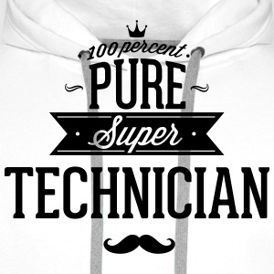 100% best technician T-Shirts - Men's Premium Hoodie