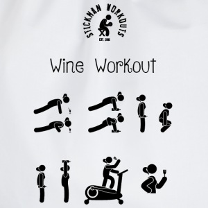 Workout with Wine Women's White Vest - Drawstring Bag