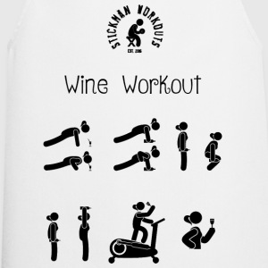 Workout with Wine Women's White Vest - Cooking Apron