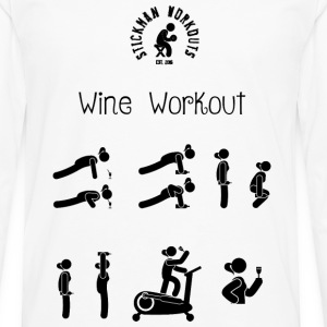 Workout with Wine Women's White Vest - Men's Premium Longsleeve Shirt