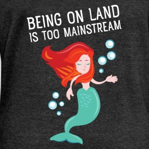 Being on land is too mainstream Tee shirts - Pull Femme col bateau de Bella