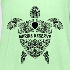 Marine Turtle Graphic Art - Women's Tank Top by Bella
