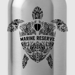 Marine Turtle Graphic Art - Water Bottle