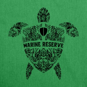 Marine Turtle Graphic Art - Shoulder Bag made from recycled material