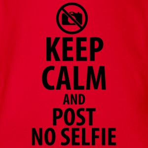 Keep calm and post no Selfie Shirts - Baby bio-rompertje met korte mouwen
