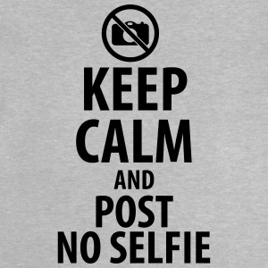 Keep calm and post no Selfie Skjorter - Baby-T-skjorte