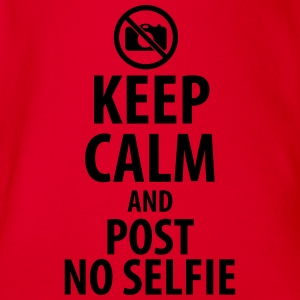 Keep calm and post no Selfie T-shirts - Kortærmet babybody, økologisk bomuld