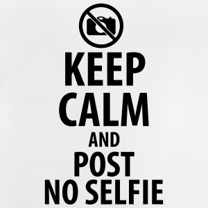 Keep calm and post no Selfie Magliette - Maglietta per neonato