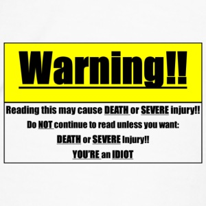 Warning!! (Larger) Mugs & Drinkware - Men's Premium T-Shirt