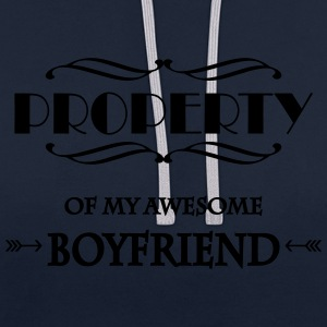 Property of my awesome boyfriend Sportkleding - Contrast hoodie