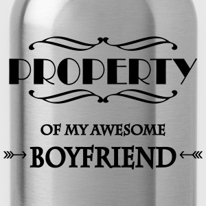 Property of my awesome boyfriend Sportkleding - Drinkfles