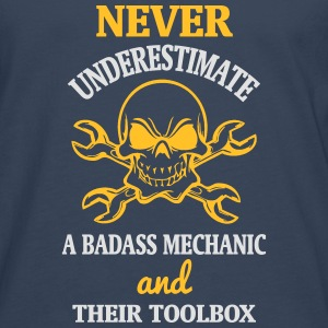 NEVER UNDERESTIMATE A MECHANIC TOOL Tops - Men's Premium Longsleeve Shirt