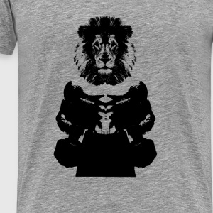 Lion Head Black Sports wear - Men's Premium T-Shirt