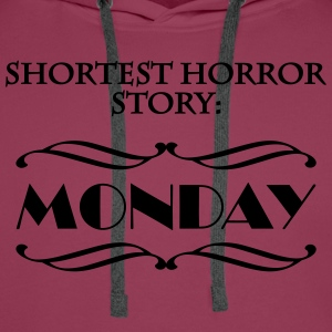 Shortes horror story: Monday T-skjorter - Premium hettegenser for menn