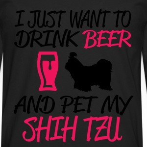 and pet my shih tzu T-Shirts - Men's Premium Longsleeve Shirt