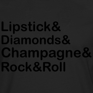 Lipstick Diamond,Champagne & Rock & Roll T-Shirts - Men's Premium Longsleeve Shirt