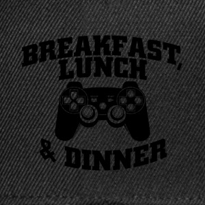 breakfast lunch and dinner T-Shirts - Snapback Cap