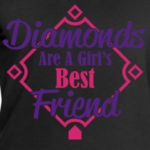 diamonds best friend T-Shirts - Men's Sweatshirt by Stanley & Stella