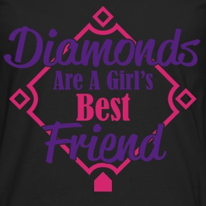 diamonds best friend T-Shirts - Men's Premium Longsleeve Shirt