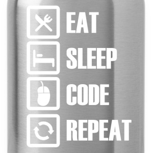 eat sleep code repeat T-Shirts - Water Bottle