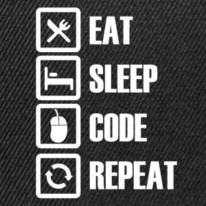 eat sleep code repeat T-Shirts - Snapback Cap