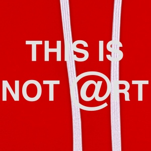 This is not art, by Caspanero T-Shirts - Contrast Colour Hoodie