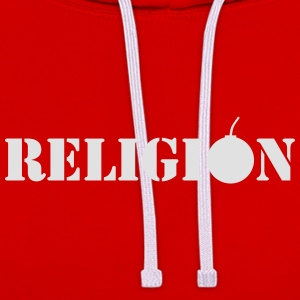 Religion, by Caspanero T-Shirts - Contrast Colour Hoodie
