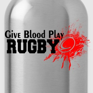 give blood play rugby T-Shirts - Water Bottle