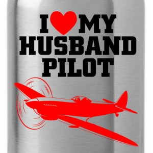 husband pilot T-Shirts - Water Bottle