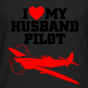 husband pilot T-Shirts - Men's Premium Longsleeve Shirt