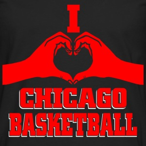 I heart chicago basketball T-Shirts - Men's Premium Longsleeve Shirt